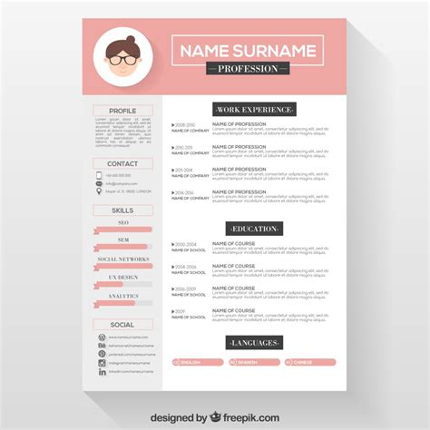 creative resume word templates free creative resume template free sle resume