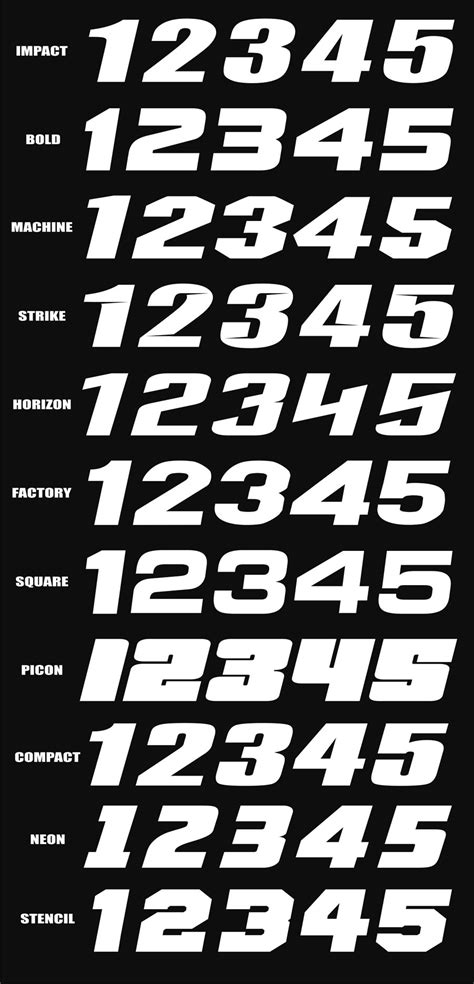 motocross racing numbers racing number fonts jose mulinohouse co