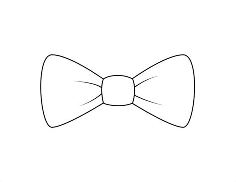 Bow Tie Template Free by 9 Printable Bow Tie Templates Free Word Pdf Format