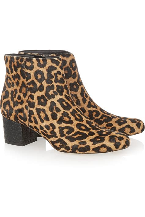 leopard print ankle boots 28 images heine suede