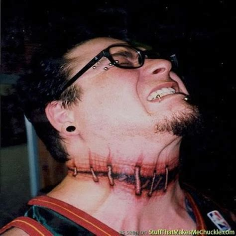 Worst Neck Tattoo Ever | this fad for tattoos on necks behind the stands