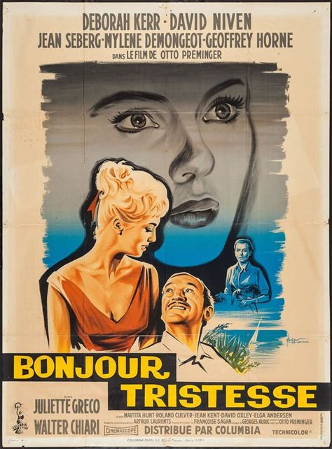 libro bonjour tristesse french edition bonjour tristesse otto preminger 1958 french grande design by georges kerfyser film posters