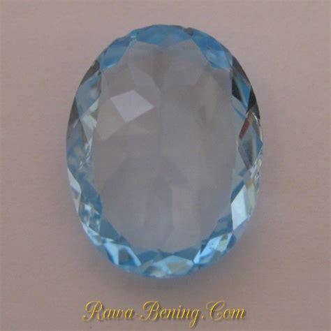 Topaz Swiss 24 Carat Warna Tajam jual batu permata topaz warna baby blue oval cut 8 90 carat