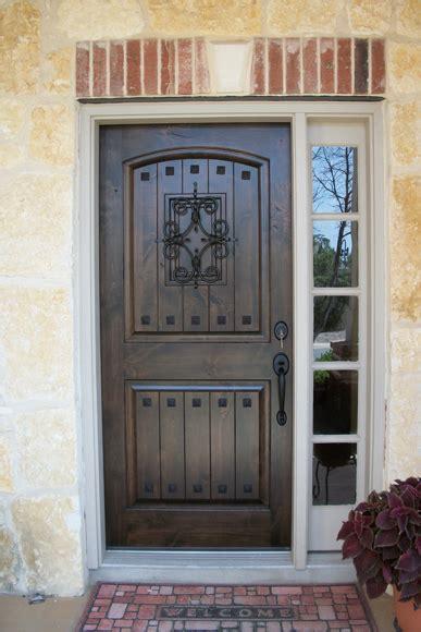 Rustic Wood Doors Knotty Alder Estancia Vgroove With Front Door With Speakeasy
