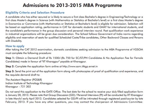 Mba Admission Test 2015 by Admission 2017 Entrance Result Iit Kharagpur Mba