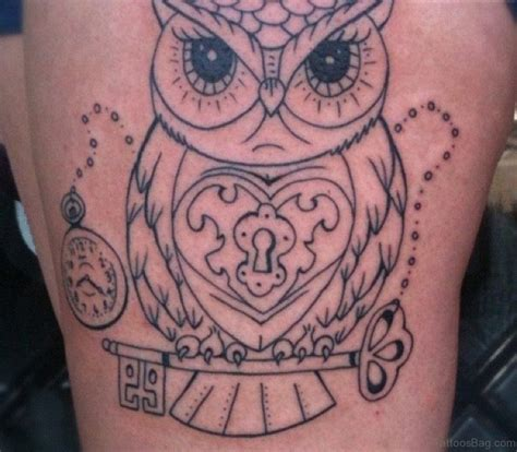 owl tattoo thigh 50 lovable owl tattoo on thigh