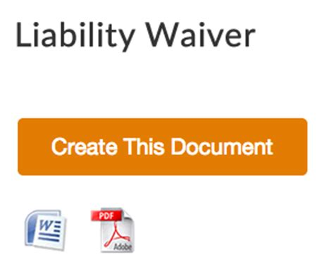 free liability release form download