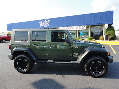 green jeep wrangler unlimited jeep wrangler unlimited 2007 green suv gasoline 6