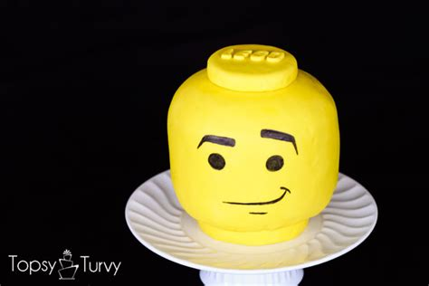 Lego Head Tutorial | lego head cake u create