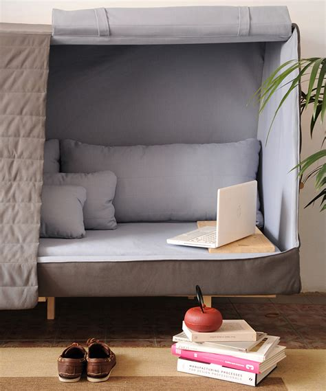 Cabin Bed With Sofa Goula Figuera Blends A Sofa Bed And Cabin Into Orwell Project