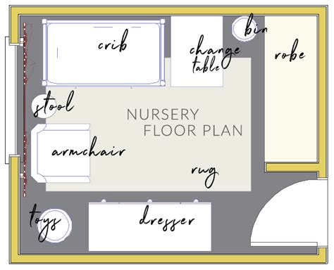 nursery floor plans one room challenge week 2 the mood board and floor plan