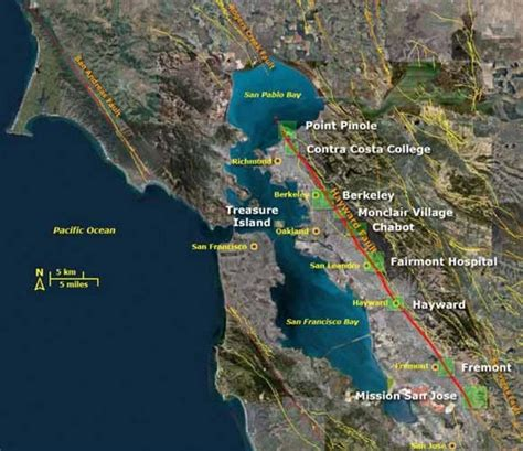 hayward fault map 25 years after loma prieta earthquake science is transformed