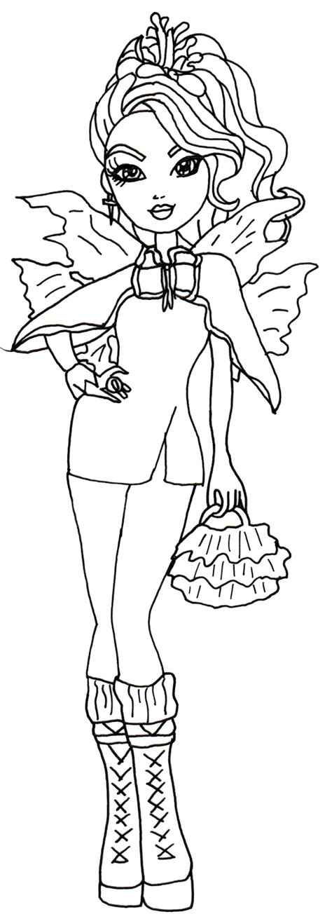 ever after high coloring pages rosabella free printable ever after high coloring pages faybelle