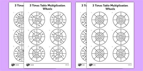 wheels activity table 3 times table multiplication wheels worksheet activity sheet