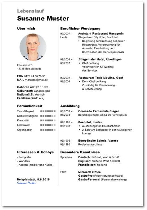 Lebenslauf Deutschland Muster by Lebenslauf Aufbau Beispiele 40 Kostenlose Vorlagen