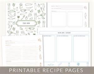 diy custom recipe binder cookbook printable pages 40
