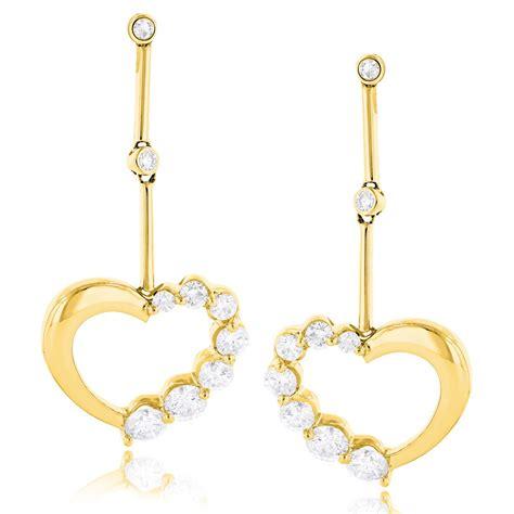 14k gold womens earrings 1 36 ctw