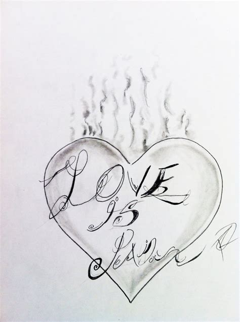 pain is love tattoo is 2 design with font by odrozz on