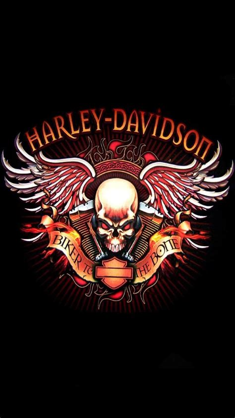 Kaos Harley Davidson Skull Wing checkout this wallpaper for your iphone http zedge net