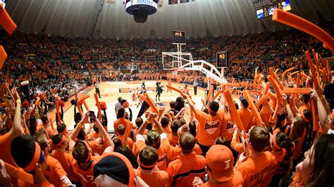 best basketball student sections illinois athletics orange krush student section