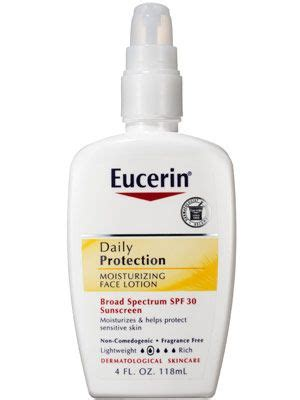 8 Best Sunscreens For The Ultimate Protection by Eucerin Daily Protection Moisturizing Lotion Broad