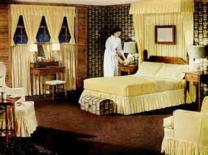 1950s Bedroom Early 50s Bedrooms 1950 55 Mid Century Living