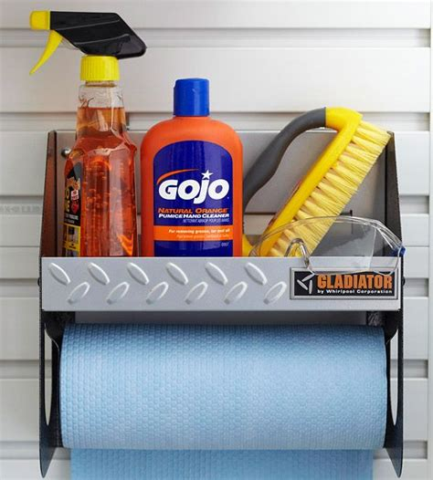 Garage Towel Dispenser by Easy Cleanup Garage And Garden Tasks Are Bound To Be