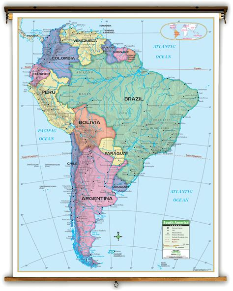 south america political map with major cities major cities of south america map