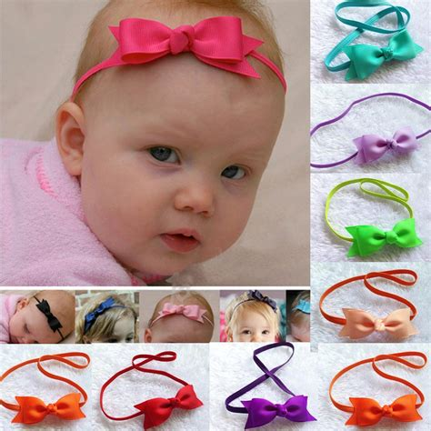 Baby Headband Bow Elastic sweet mini bow flower baby headband fashion princess