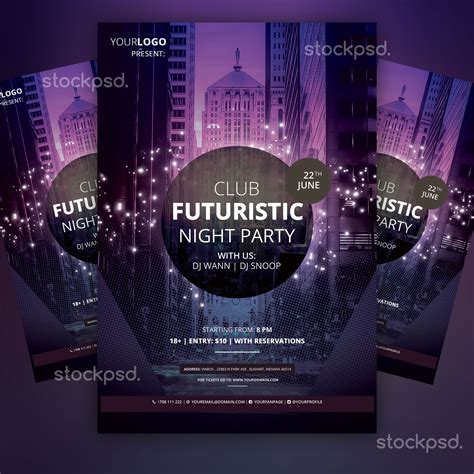 club templates free stockpsd net free psd flyers brochures and more club