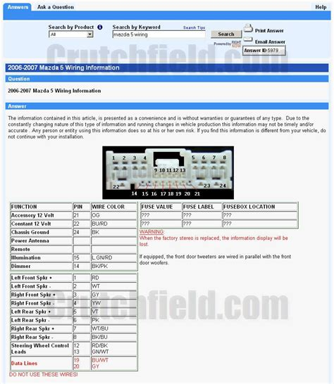2006 mazda 3 radio wiring diagram mazda auto parts