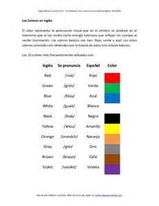 color en ingles 0 9 el alfabeto y los colores en el idioma ingl 233 s