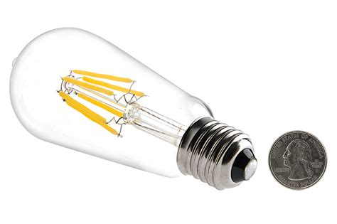 St18 Led Filament Bulb 35 Watt Equivalent Vintage Light 12v Led Light Bulb