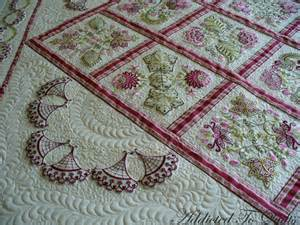 Embroidered Quilt Addicted To Quilts More Embroidery From Janet Sansom