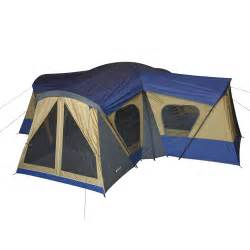 Cabin Tents by Ozark Trail 10 Person 3 Room Vacation Tent With Built In