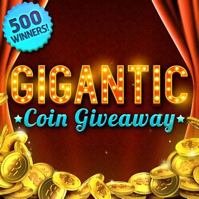 Free Coin Giveaway - gigantic coin giveaway slotomania