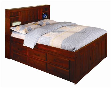 full size captains bed   bed storage