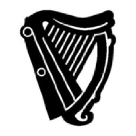 guinness harp sign vinyl graphic decal sticker fast