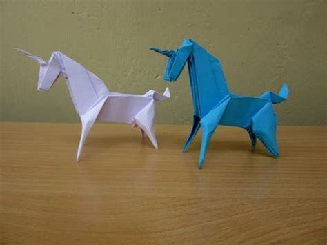 Origami Unicorn Easy - how to make a paper unicorn easy tutorials