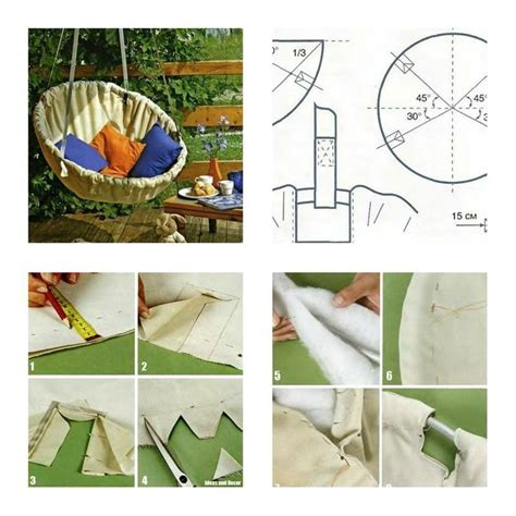 pattern for fabric hanging chair how to make hammock chair step by step diy tutorial