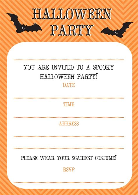 free printable halloween invitations free halloween