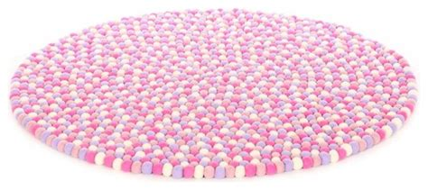 little girls bedroom rugs happy as larry marshmallow felt ball rug pink 3 4 quot contemporary rugs by ecofo