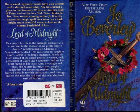 Hr Lord Of Midnight By Jo Beverley Price 2 50