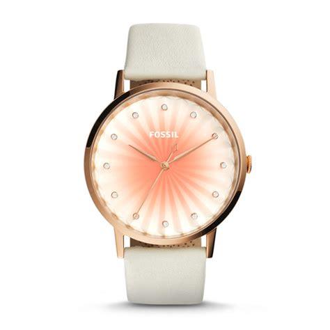 Fossil Kulit White Rosegold promo jam tangan wanita fossil es3992original