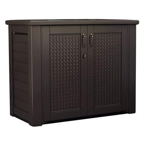 patio chic storage cabinet by rubbermaid rona