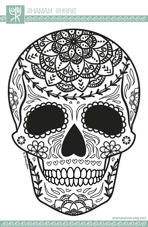 Day Of The Dead Coloring Book Pdf