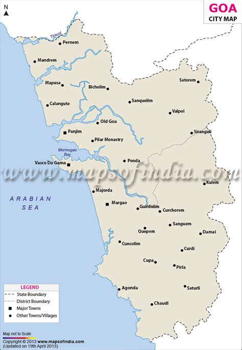 mapusa goa map cities in goa goa cities map