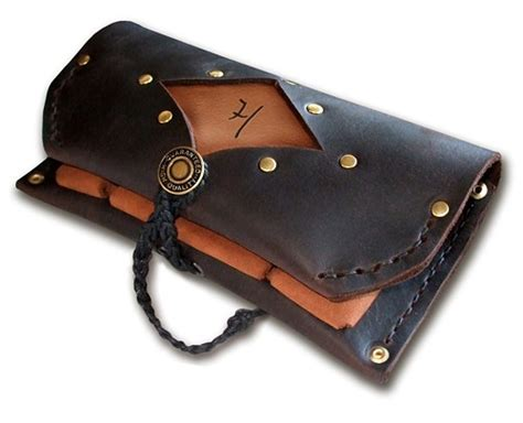 Handmade Leather Tobacco Pouches - handmade leather tobacco pouch quot 3 pockets your