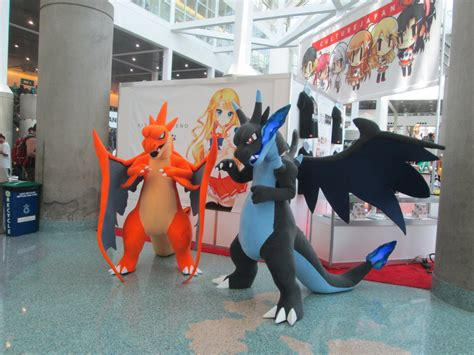 ax 2015 day 3 mega charizard x and y costumes by