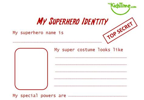 printable superhero id cards super fun superhero activities for kids